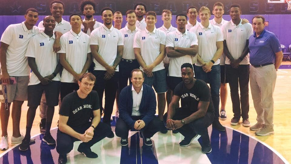 coach ak ikwuakor duke basketball athlete entrepreneur dear world robert fogerty